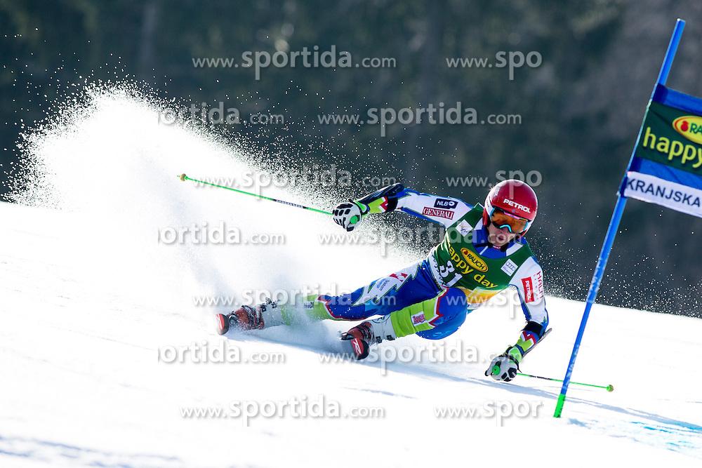 KRANJECZan of Slovenia during the 1st Run of Men's Giant Slalom - Pokal Vitranc 2014 of FIS Alpine Ski World Cup 2013/2014, on March 8, 2014 in Vitranc, Kranjska Gora, Slovenia. Photo by Matic Klansek Velej / Sportida