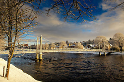 A footbridge over the River Ness in Inverness, Scotland<br /> <br /> (c) Andrew Wilson | Edinburgh Elite media