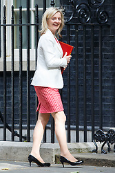 © Licensed to London News Pictures. 09/06/2015. Westminster, UK. Environment, Food and Rural Affairs Secretary LIZ TRUSS attending to a cabinet meeting in Downing Street on Tuesday, 9 June 2015. Photo credit: Tolga Akmen/LNP