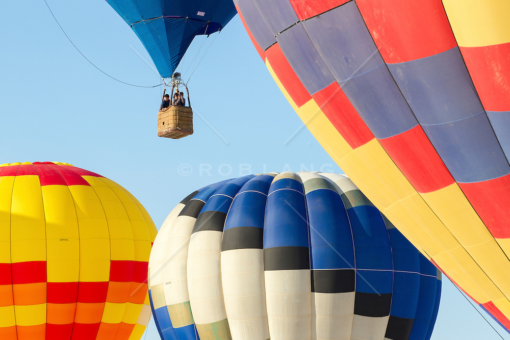 hot air balloon festival in White Sands National Park, New Mexico