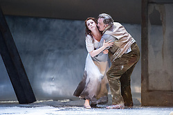 © Licensed to London News Pictures. 06/09/2012. Welsh National Opera present Puccini's La Boheme at the Wales Millennium Centre, Cardiff. Picture shows Giselle Allen as Mimi and David Kempster as Marcello. Photo credit : Tony Nandi/LNP