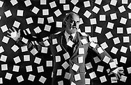 The inventor of the Post-It note, Arthur Fry, a scientist at the 3M Corporation, in St. Paul , Minnesota.