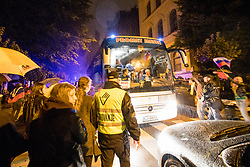 The bus with players during Reception of Slovenian national baskteball team with Gold medal from Eurobasket 2017 - Istanbul and Slovenian women's U23 volleyball team with Silver medal from Women's U23 World Championships - Ljubljana, on September 18, 2017 in Kongresni trg, Ljubljana, Slovenia. Photo by Matic Klansek Velej / Sportida