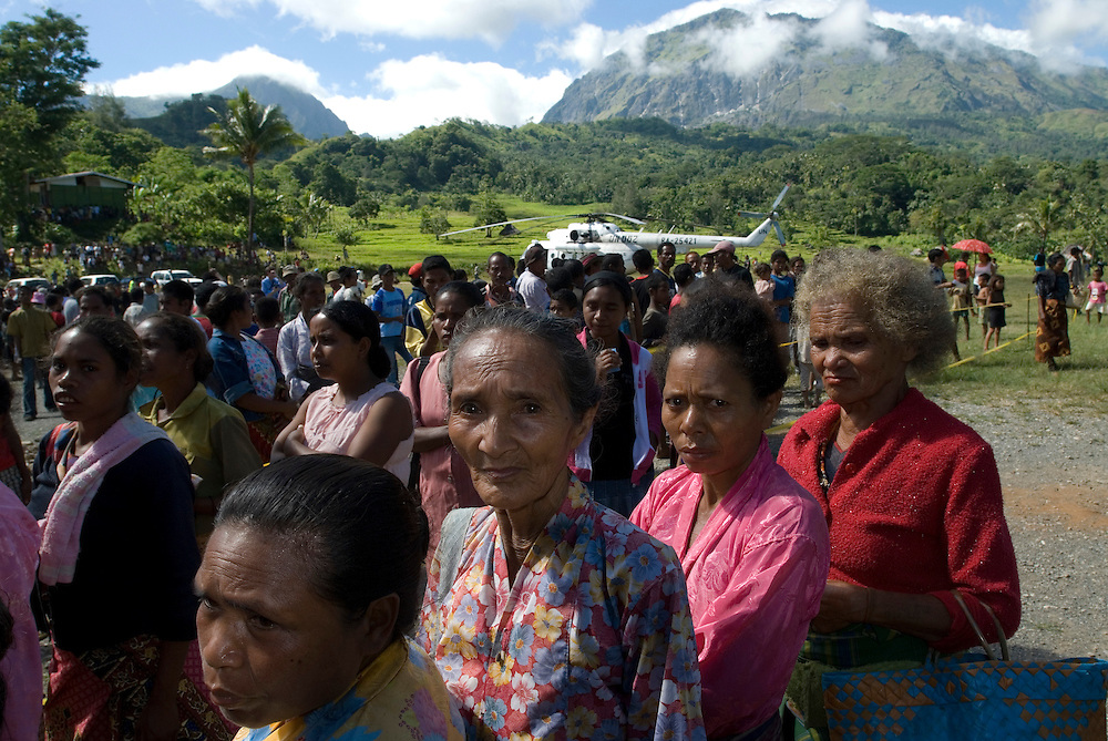 A large number of East Timorese turn out in Quelicai to cast their vote for either Francisco Guterres (Lu Olo) or Jose Ramos Horta, both candidates for East Timor's Presidential Elections.