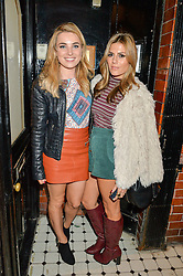 Left to right, SIAN WELBY and ZOE HARDMAN at the Cointreau launch for Yumi by Lilah Parsons SS/16 collection held at 15 Bateman Street, London on 1st December 2015