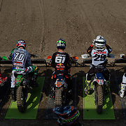 Only one rider here is ready. And Zach Pichon is not even on his bike. Jorge Prado holeshot both MX2 motos.