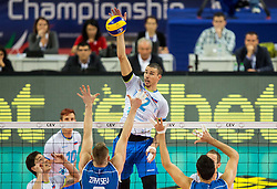 17-10-2015 BUL: Volleyball European Championship Slovenie - Italie, Sofia<br /> Semifinal in Arena Armeec Sofia / Alen Pajenk #2 of Slovenia<br /> Photo: Vid Ponikvar / RHF<br /> +++USE NETHERLANDS ONLY+++