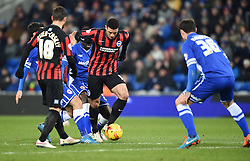 Brighton and Hove Albion's Leon Best in action during the Sky Bet Championship match between Cardiff City and Brighton & Hove Albion at Cardiff City Stadium on 10 February 2015 in Cardiff, Wales - Photo mandatory by-line: Paul Knight/JMP - Mobile: 07966 386802 - 10/02/2015 - SPORT - Football - Cardiff - Cardiff City Stadium - Cardiff City v Brighton & Hove Albion - Sky Bet Championship