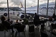 Lufthansa gate in Frankfurt