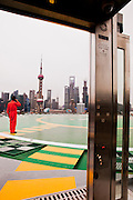 Helicopter pad at The Peninsula Shanghai.