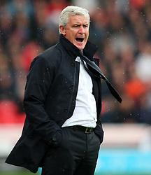 Stoke City manager Mark Hughes shouts - Mandatory by-line: Matt McNulty/JMP - 30/09/2017 - FOOTBALL - Bet365 Stadium - Stoke-on-Trent, England - Stoke City v Southampton - Premier League