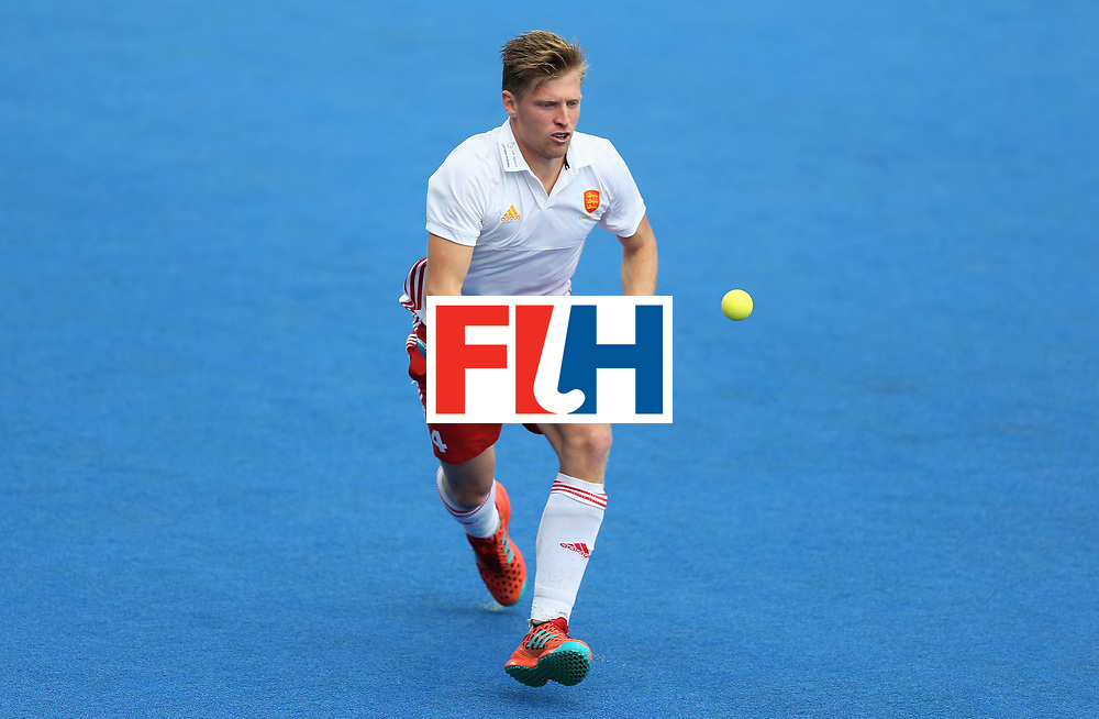 LONDON, ENGLAND - JUNE 24:  Ollie Willars of England in action during the semi-final match between England and the Netherlands on day eight of the Hero Hockey World League Semi-Final at Lee Valley Hockey and Tennis Centre on June 24, 2017 in London, England.  (Photo by Steve Bardens/Getty Images)