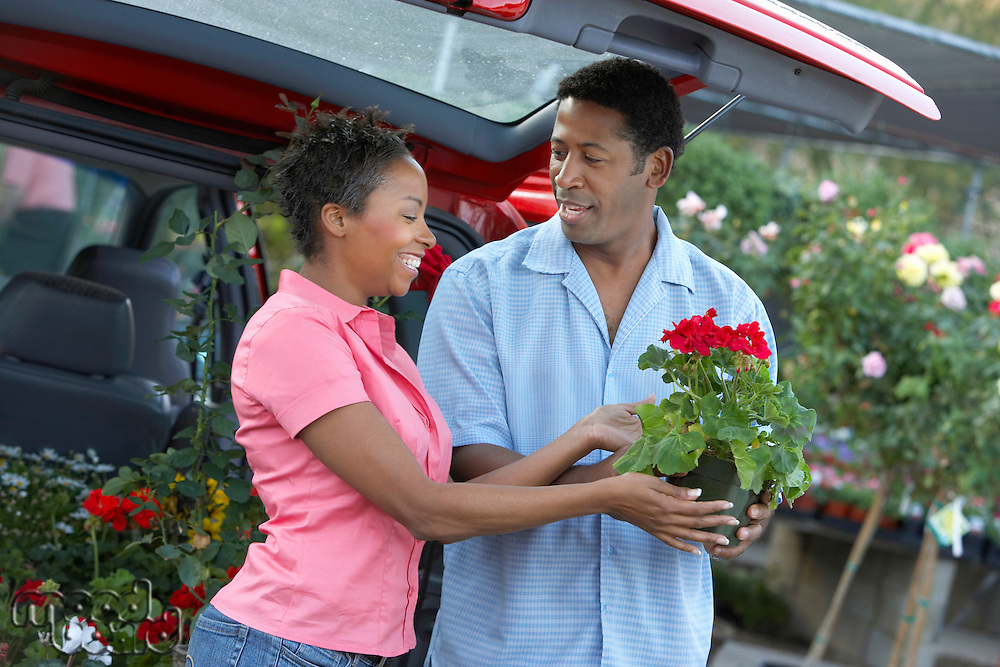 Couple Choosing Potted Plants