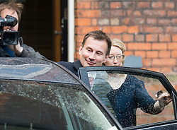 © London News Pictures. 26/04/2012. London, UK. Secretary of State for Culture, Olympics, Media and Sport, Jeremy Hunt MP leaving the launch of the London 2012 Festival at the Tower of London on April 26, 2012. London 2012 Festival  is a festival celebrating the 2012 Olypic Games in London. Photo credit : Ben Cawthra/LNP