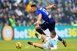 "Foto Filippo Rubin<br /> 06/01/2018 Ferrara (Italia)<br /> Sport Calcio<br /> Spal - Lazio - Campionato di calcio Serie A 2017/2018 - Stadio ""Paolo Mazza""<br /> Nella foto: CIRO IMMOBILE (LAZIO) CONTRO FRANCESCO VICARI (SPAL)<br /> <br /> Photo by Filippo Rubin<br /> January 06, 2018 Ferrara (Italy)<br /> Sport Soccer<br /> Spal vs Lazio - Italian Football Championship League A 2017/2018 - ""Paolo Mazza"" Stadium <br /> In the pic: CIRO IMMOBILE (LAZIO) AND FRANCESCO VICARI (SPAL)"