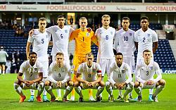 England U21 team photo - Mandatory byline: Matt McNulty/JMP - 07966386802 - 03/09/2015 - FOOTBALL - Deepdale Stadium -Preston,England - England U21 v USA U23 - U21 International