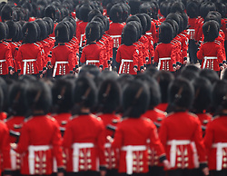 The Major General's Review, the rehearsal of the Trooping the Colour, the Queen's annual birthday parade, on The Mall, central London.