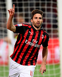 MILAN, May 7, 2019  AC Milan's Fabio Borini celebrates his goal during a Serie A soccer match between AC Milan and Bologna in Milan, Italy, May 6, 2019. AC Milan won 2-1. (Credit Image: © Daniele Mascolo/Xinhua via ZUMA Wire)