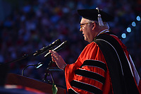 Chancellor Randy Woodson welcomes everyone to commencement.
