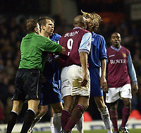 Copyright Sportsbeat. 0208 3926656<br />Picture: Henry Browne<br />Date: 03/03/2003<br />Aston Villa v Birmingham City Barclaycard Premiership<br />Dion Dublin headbutts Robbie Savage of City and then gets sent off