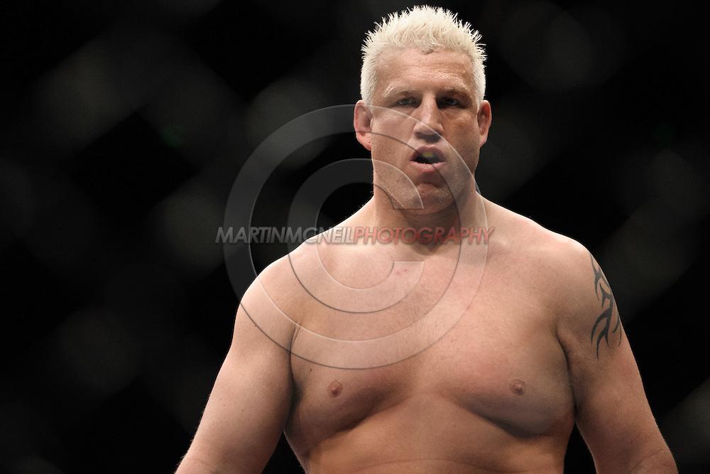 "SYDNEY, AUSTRALIA, FEBRUARY 27, 2011: Chris Tuchscherer enters the octagon during ""UFC 127: Penn vs. Fitch"" inside Acer Arena in Sydney, Australia on February 27, 2011."