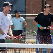 August 21, 2016, New Haven, Connecticut: <br /> Joel Kielbowicz and Matt Seeberger in action during a US Open National Playoffs match at the 2016 Connecticut Open at the Yale University Tennis Center on Sunday, August  21, 2016 in New Haven, Connecticut. <br /> (Photo by Billie Weiss/Connecticut Open)