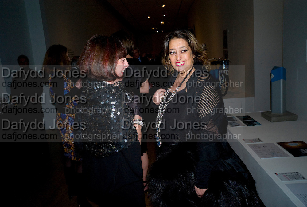 JANICE BLACKBURN; ZAHA HADID, brit Insurance Design Awards 2009. Design Museum. London. 18 March 2009. *** Local Caption *** -DO NOT ARCHIVE-© Copyright Photograph by Dafydd Jones. 248 Clapham Rd. London SW9 0PZ. Tel 0207 820 0771. www.dafjones.com.<br /> JANICE BLACKBURN; ZAHA HADID, brit Insurance Design Awards 2009. Design Museum. London. 18 March 2009.