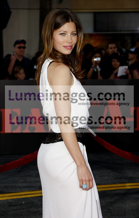Jessica Biel at the Los Angeles premiere of 'The A-Team' held at the Grauman's Chinese Theater in Hollywood on June 3, 2010. Credit: Lumeimages.com