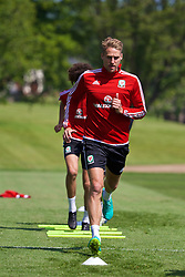 CARDIFF, WALES - Friday, June 3, 2016: Wales' David Edwards during a training session at the Vale Resort Hotel ahead of the International Friendly match against Sweden. (Pic by David Rawcliffe/Propaganda)