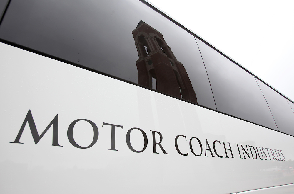 Motor Coach Industries coach at Ball State University, Muncie, Indiana.