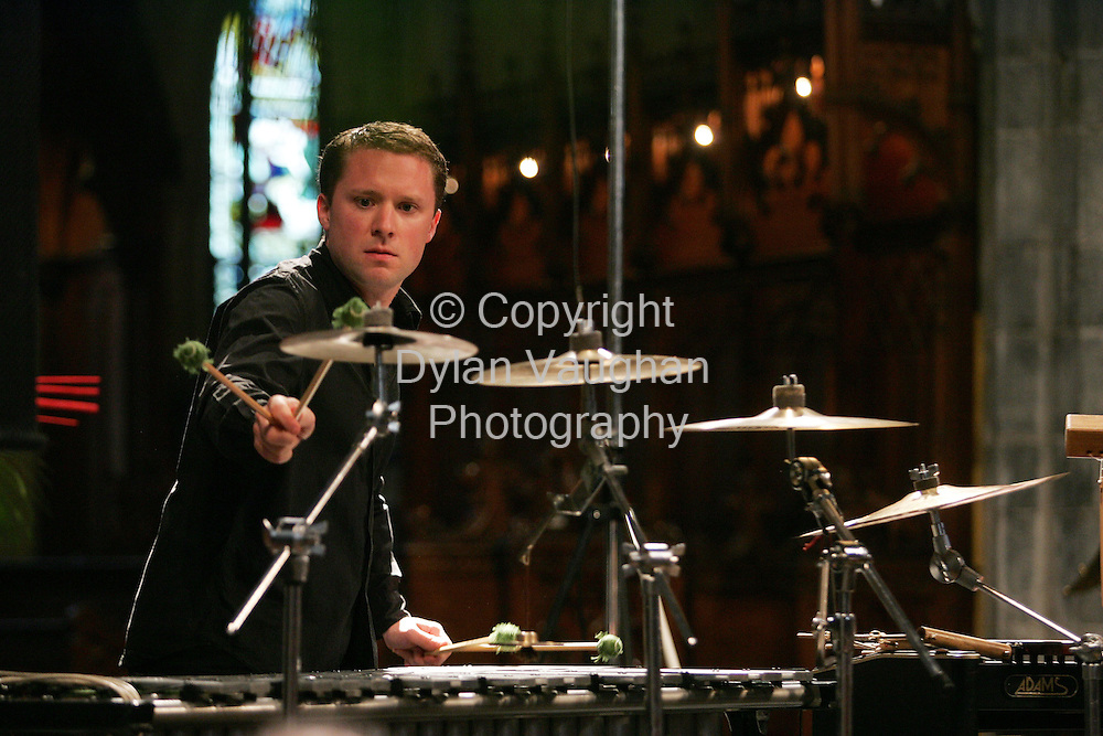 10/8/2004.Colin Currie pictured at St Canices Cathedral at the Kilkenny Arts Festival..Picture Dylan Vaughan