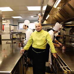Christian Sinicropi is the chef at The Martinez Hotel's kitchens. 62th Cannes Film Festival. France. 19 May 2009. Photo: Antoine Doyen