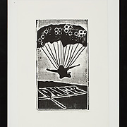 "Title: A Deliberate Jump<br /> Artist: Missy Davis<br /> Date: 2010<br /> Medium: Woodcut<br /> Dimensions: 13.5 x 17.5""<br /> Instructor: <br /> Status: Available<br /> Location: HLC4000 Storage"