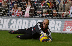 LIVERPOOL, ENGLAND - Sunday, December 2, 2007: Liverpool's goalkeeper Jose Pepe Reina MBE before the Premiership match against Bolton Wanderers at Anfield. (Photo by David Rawcliffe/Propaganda)