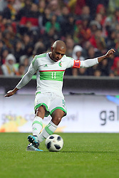 June 7, 2018 - Lisbon, Portugal - AlgeriaÂ«s midfielder Yacine Brahimi in action during the FIFA World Cup Russia 2018 preparation football match Portugal vs Algeria, at the Luz stadium in Lisbon, Portugal, on June 7, 2018. (Credit Image: © Pedro Fiuza via ZUMA Wire)