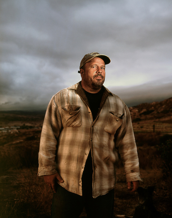 Portrait of organic farmer in San Diego county.