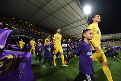 Players of Domzale and Maribor before football match between NK Maribor and NK Domzale in 17th Round of Prva liga Telekom Slovenije 2019/20, on November 9, 2019 in Ljudski vrt, Maribor, Slovenia. Photo by Milos Vujinovic / Sportida