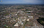 aerial photograph of Bridgeton Glasgow Scotland