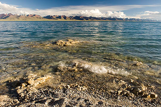 Lake Namtso. Altitudes above 17,000 feet. Tibet. Asia.