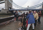 London. United Kingdom. Aberdeen Asset Management, announce, they are to sponsor the Annual Varsity Boat Race - between Oxford University BC and Cambridge University BC. at Tower Bridge. [Mandatory CreditPeter Spurrier/Intersport-images]  25.11.1999..People: Cambridge President, Brad CROMBIE, Oxford President Charlie HUMPHRIES, Martin GILBERT,  Chief Executive Aberdeen Asset Management, and Boat race Representative Duncan CLEGG Boat Race Organiser. ..Rowing Varsity 2012 011041.jpg..Scanned in 2012 so has 2012 file No.