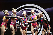 Linaia Akhaimova, Irina Alekseeva, Ulina Perebinosova, Angelina Melnikova, Anglina Simakova (Russia) European Women's Team Competition Champion during the European Championships Glasgow 2018, Women's Artistic Gymnastics , Team Final at The SSE Hydro in Glasgow, Great Britain, Day 3, on August 4, 2018 - Photo Laurent Lairys / ProSportsImages / DPPI