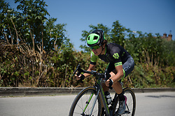 Malgorzata Jasinska picks up speed in the opening 300 metres of Stage 5 of the Giro Rosa - a 12.7 km individual time trial, starting and finishing in Sant'Elpido A Mare on July 4, 2017, in Fermo, Italy. (Photo by Sean Robinson/Velofocus.com)