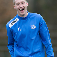 St Johnstone Training....20.12.13<br /> Steven Anderson pictured in training today ahead of tomorrow's game at Hibs.<br /> Picture by Graeme Hart.<br /> Copyright Perthshire Picture Agency<br /> Tel: 01738 623350  Mobile: 07990 594431