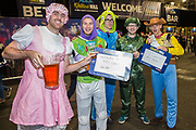 Dart fans in fancy dress during the World Darts Championships 2018 at Alexandra Palace, London, United Kingdom on 19 December 2018.