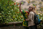 Kelsey and Kyle Walter take a selfie at the San Diego Safari Park, SanDiego County CA.
