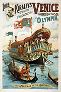 Title: Imre Kiralfy's gorgeous production of Venice, the bride of the sea at Olympia Poster designed by Imre Kiralfy 1845-1919.  c1891.  (poster) lithograph