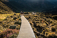 At the beginning of the Tongariro Alpine Crossing.