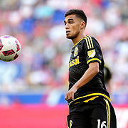 HARRISON, NEW JERSEY- OCTOBER 16:  Hector Jimenez #16 of Columbus Crew in action during the New York Red Bulls Vs Columbus Crew SC MLS regular season match at Red Bull Arena, on October 16, 2016 in Harrison, New Jersey. (Photo by Tim Clayton/Corbis via Getty Images)