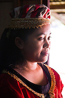 Girl dressed in traditional Bidayuh clothing.