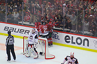 2019-11-16 | Örebro, Sweden:  Örebro HK after a goal during the game between Örebro HK and Malmö Redhawks at Behrn Arena ( Photo by: Hasse Persson | Swe Press Photo )<br /> <br /> Keywords: Behrn Arena, Örebro, Ice hockey, SHL, Örebro HK, Malmö Redhawks, hpöm191116